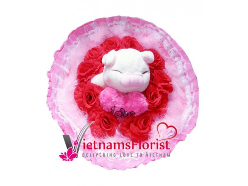 Artificial Flowers And Bears 004